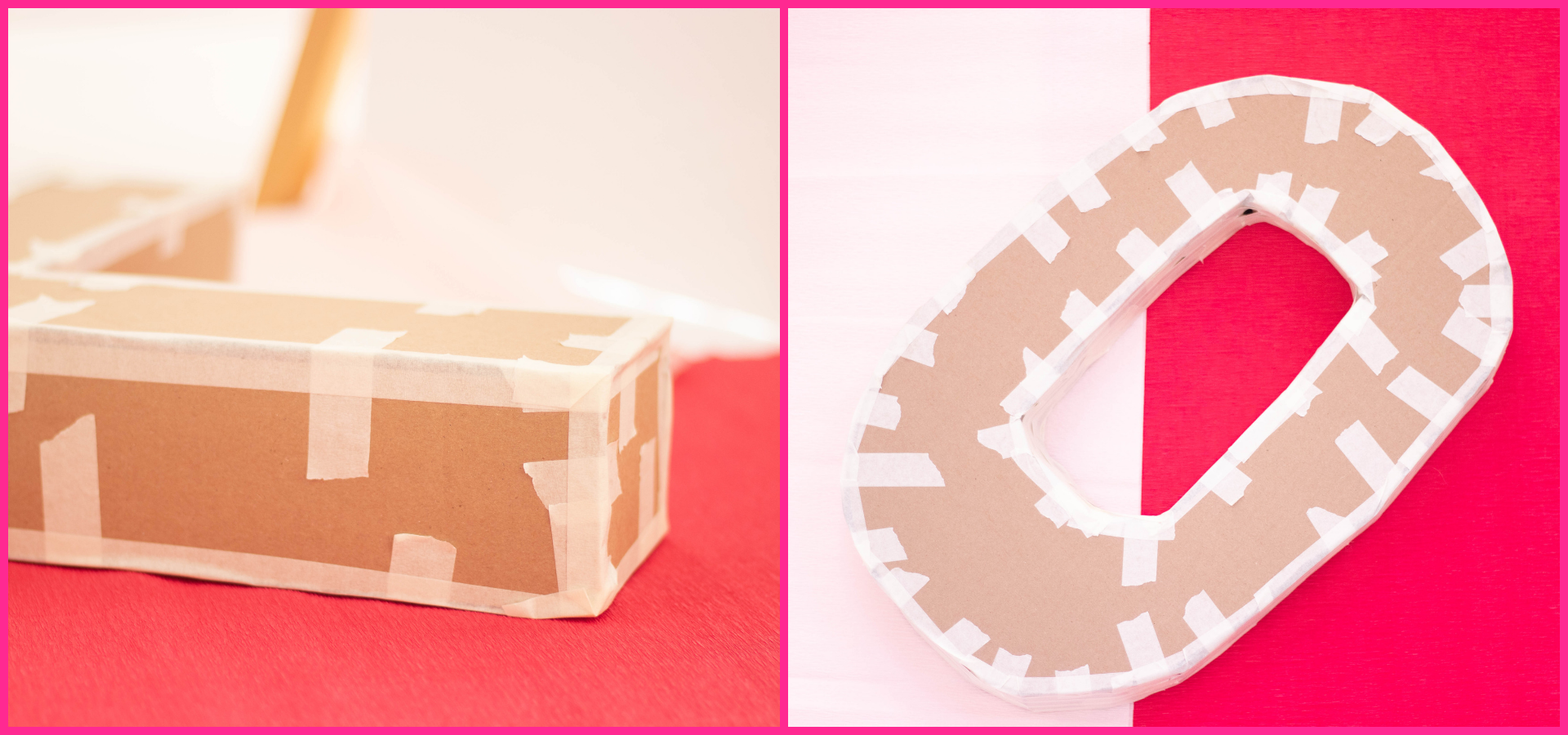 build out your 3d letters with scotch tape.