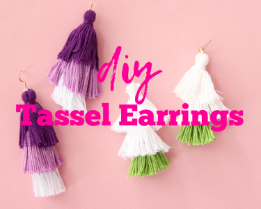 tutorial on how to make your own diy tassel earrings