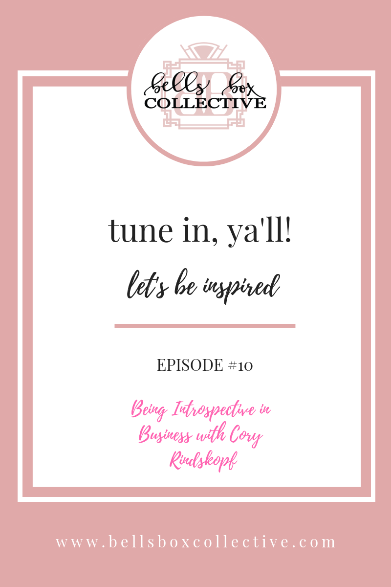 Let's be Inspired female entrepreneur podcast recorded in Charlotte NC about being self-aware in business.