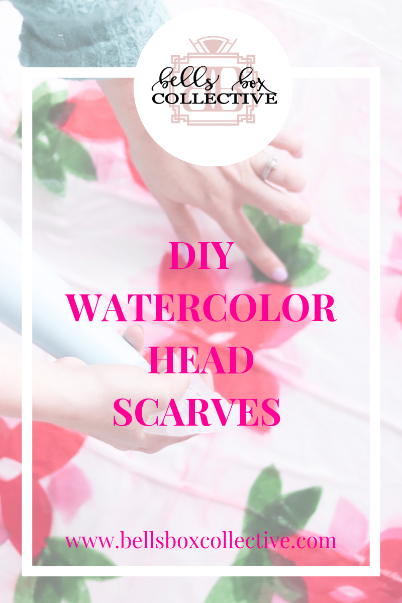DIY Watercolor head scarves