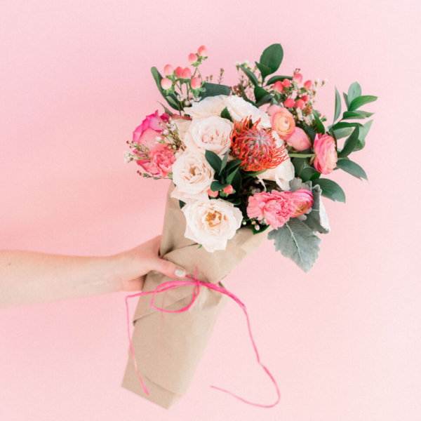 Valentines Day Floral Wrap