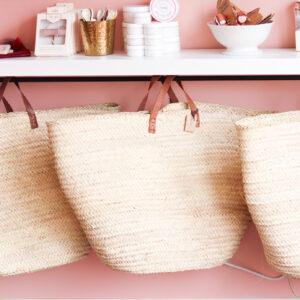 oversized basket bag